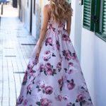długa sukienka na lato zwiewna sia tył