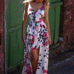długa sukienka na lato w kwiaty sia