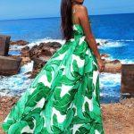zielona długa sukienka zwiewna na lato sia