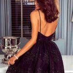 krótka sukienka laura na ramiączkach z odkrytymi plecami