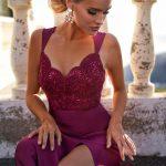 długa sukienka melanie z odkrytymi ramionami na ramiączkach